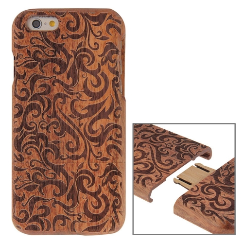 Grass Pattern Separable Rosewood Wooden Case for iPhone 6 & 6s