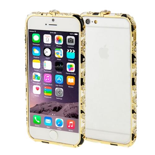 Buy For iPhone 6 Encrusted Diamond Metal Bumper Frame Case, Black for $1.28 in SUNSKY store