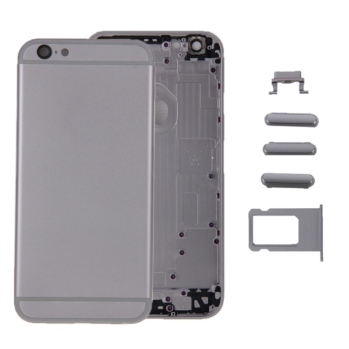 6 in 1 for iPhone 6 (Back Cover + Card Tray + Volume Control Key + Power Button + Mute Switch Vibrator Key + Sign) Full Assembly Housing Cover(Grey)