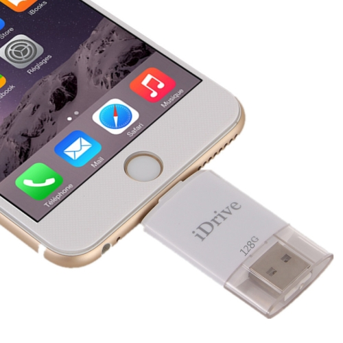 Buy 128GB 8 Pin USB iDrive iReader Flash Memory Stick for iPhone 6 & 6s, iPhone 6 Plus & 6s Plus, iPhone 5 & 5C & 5S for $68.46 in SUNSKY store