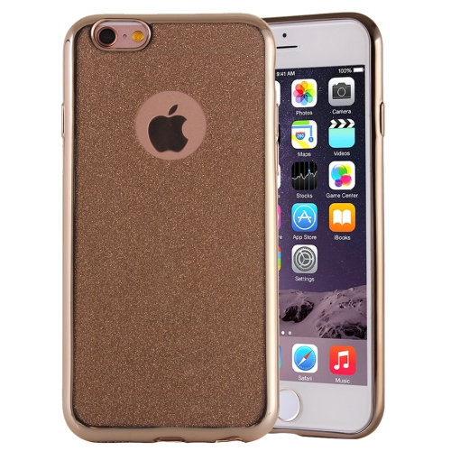 Buy Electroplating Flash Powder TPU Protective Case for iPhone 6 & 6s, Gold for $1.43 in SUNSKY store