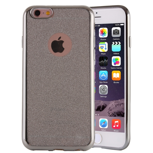 Buy Electroplating Flash Powder TPU Protective Case for iPhone 6 & 6s, Silver for $1.43 in SUNSKY store