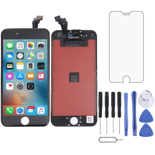 LCD Screen and Digitizer Full Assembly with Frame for iPhone 6(Black)