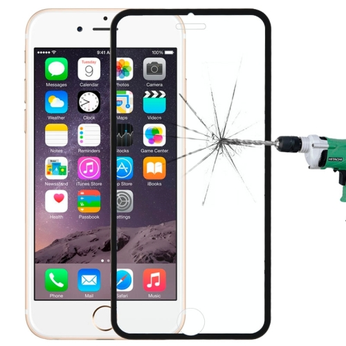 Narrow Edge Full Cover Tempered Glass Screen Protector For iPhone 6 / 7 / 8(Black)