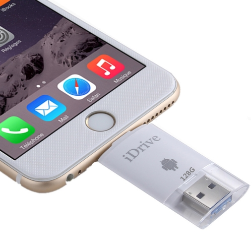 Buy 128GB 2 in 1 Micro USB 2.0 & 8 Pin USB iDrive iReader Flash Memory Stick for iPhone 6 & 6s, iPhone 6 Plus & 6s Plus, Samsung Galaxy S6 / S5 for $65.97 in SUNSKY store