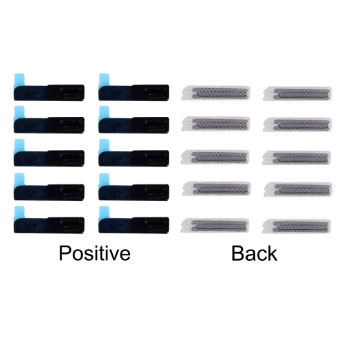 Ear Speaker Mesh Cover with Gasket Replacement for iPhone 6 & 6 Plus, 10 pairs/set