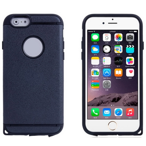 Buy Plastic + TPU Combination Case for iPhone 6 & 6S, Black for $1.54 in SUNSKY store