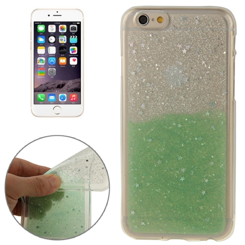 Buy Two-Tone Star Sequins Flash Powder Series TPU Protective Case for iPhone 6 & 6S, Green for $1.57 in SUNSKY store