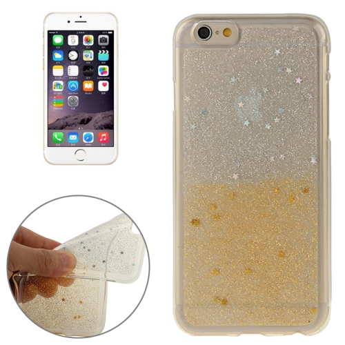 Buy Two-Tone Star Sequins Flash Powder Series TPU Protective Case for iPhone 6 & 6S, Yellow for $1.57 in SUNSKY store
