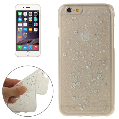 Buy Transparent Star Sequins Flash Powder Series TPU Protective Case for iPhone 6 & 6S, Silver for $1.57 in SUNSKY store