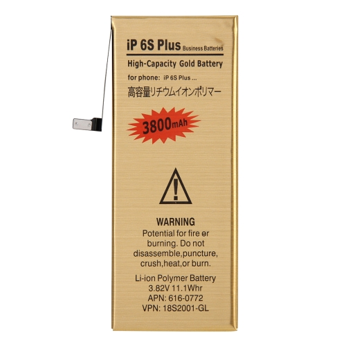 3800mAh High Capacity Gold Rechargeable Li-Polymer Battery for iPhone 6s Plus