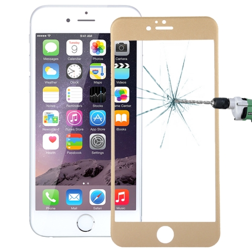 Buy 0.26mm 9H+ Surface Hardness 2.5D Curved Surface Full Screen Cover Explosion-proof Tempered Glass Film for iPhone 6s Plus, Gold for $1.16 in SUNSKY store