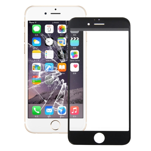 Front Screen Outer Glass Lens for iPhone 6s Plus (Black)