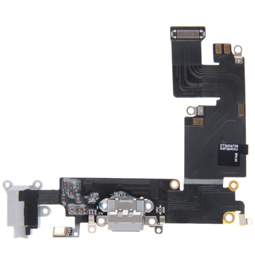 Charging Port Dock Connector Flex Cable for iPhone 6 Plus(Grey)