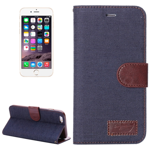 Buy Denim Texture Horizontal Flip Leather Case with Card Slots & Holder for iPhone 6 Plus & 6S Plus, Grey for $2.34 in SUNSKY store