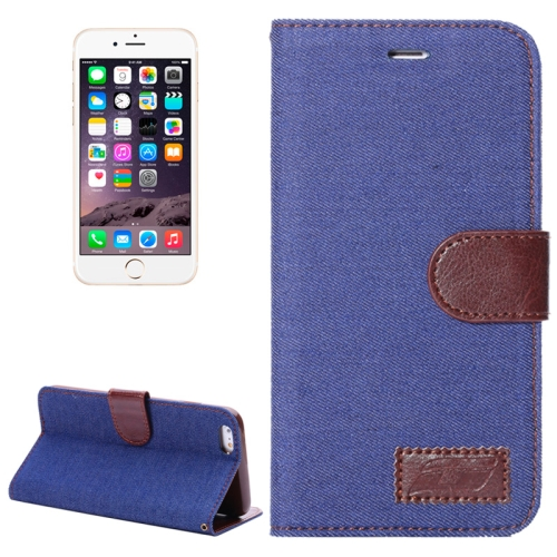 Buy Denim Texture Horizontal Flip Leather Case with Card Slots & Holder for iPhone 6 Plus & 6S Plus (Dark Blue) for $2.34 in SUNSKY store
