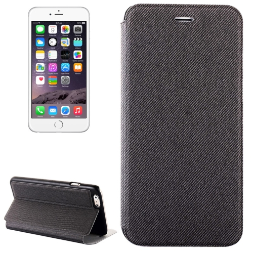 Buy Denim Texture Horizontal Flip Leather Case with Holder for iPhone 6 Plus & 6S Plus, Grey for $2.32 in SUNSKY store