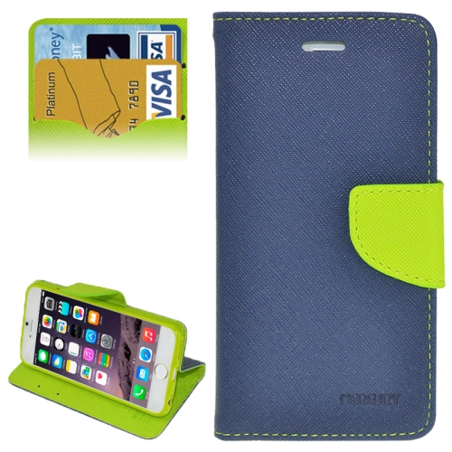 Buy Cross Texture Horizontal Flip Leather Case with Card Slots & Holder for iPhone 6 Plus & 6S Plus (Dark Blue) for $2.16 in SUNSKY store