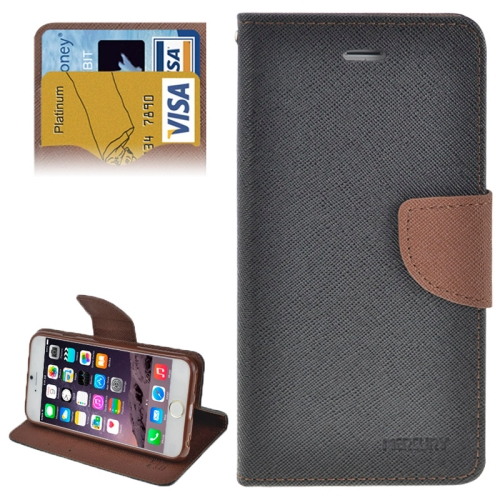 Buy Cross Texture Horizontal Flip Leather Case with Card Slots & Holder for iPhone 6 Plus & 6S Plus, Grey for $2.16 in SUNSKY store