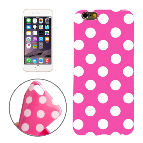 Buy Magenta and White Dot Pattern Smooth TPU Case for iPhone 6 Plus & 6S Plus, Magenta for $1.25 in SUNSKY store
