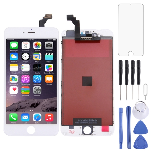 LCD Screen and Digitizer Full Assembly with Frame for iPhone 6 Plus(White)