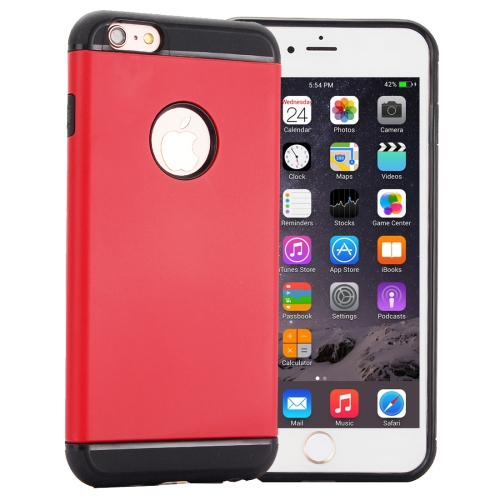 Buy Slim Armor TPU + Plastic Combination Case for iPhone 6 Plus, Red for $1.40 in SUNSKY store