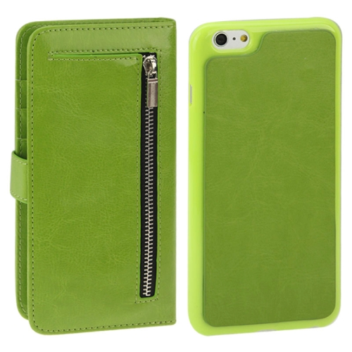 Buy 2 in 1 Separable Crazy Horse Texture Wallet Style Flip Leather Case for iPhone 6 Plus & 6S Plus, Green for $4.45 in SUNSKY store