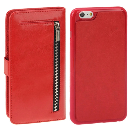 Buy 2 in 1 Separable Crazy Horse Texture Wallet Style Flip Leather Case for iPhone 6 Plus & 6S Plus, Red for $4.45 in SUNSKY store