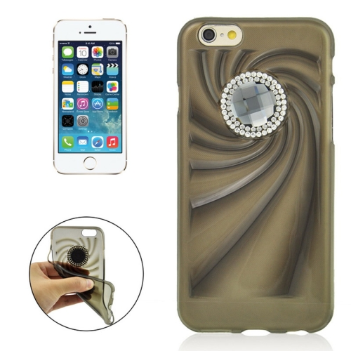 Buy Fashionable Ultrathin Diamond Encrusted TPU Protective Case for iPhone 6 Plus, Black for $1.35 in SUNSKY store