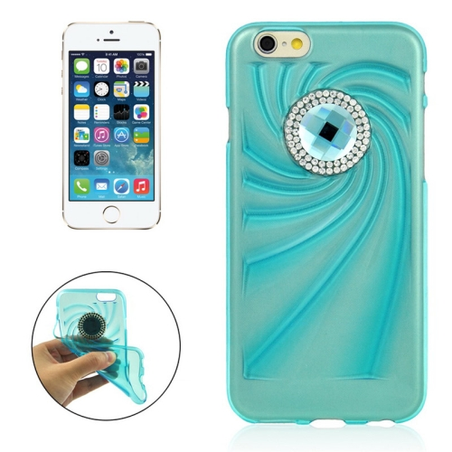 Buy Fashionable Ultrathin Diamond Encrusted TPU Protective Case for iPhone 6 Plus, Blue for $1.35 in SUNSKY store