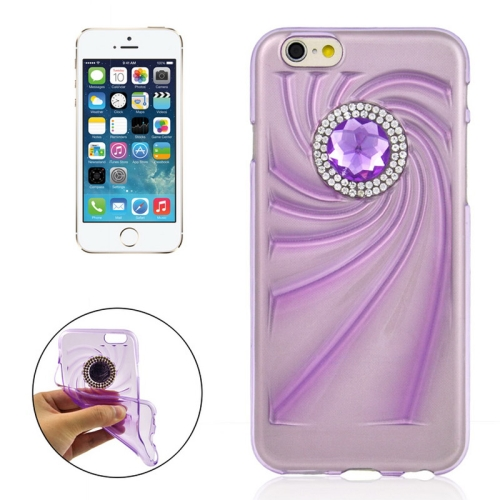 Buy Fashionable Ultrathin Diamond Encrusted TPU Protective Case for iPhone 6 Plus, Purple for $1.35 in SUNSKY store
