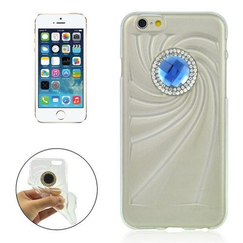 Buy Fashionable Ultrathin Diamond Encrusted TPU Protective Case for iPhone 6 Plus, Transparent for $1.35 in SUNSKY store