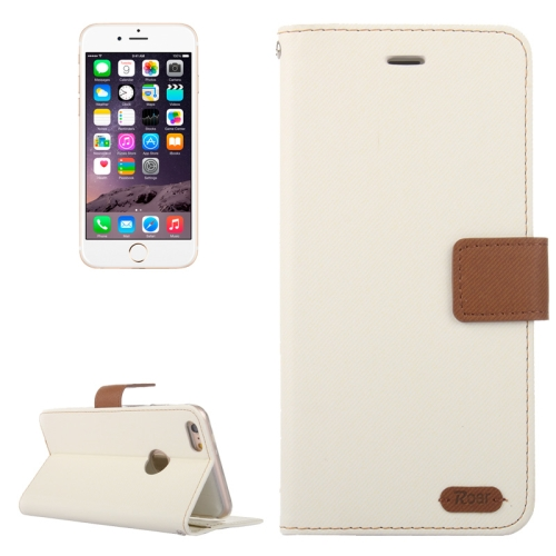 Buy Roar Stripe Texture Leather Case with Holder & Card Slot & Wallet for iPhone 6 Plus & 6S Plus, White for $3.85 in SUNSKY store