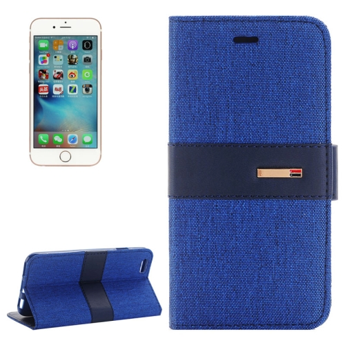 Buy For iPhone 6 Plus & 6s Plus Denim Texture Horizontal Flip Leather Case with Holder & Card Slots (Dark Blue) for $2.28 in SUNSKY store