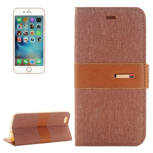 Buy For iPhone 6 Plus & 6s Plus Denim Texture Horizontal Flip Leather Case with Holder & Card Slots, Brown for $2.17 in SUNSKY store