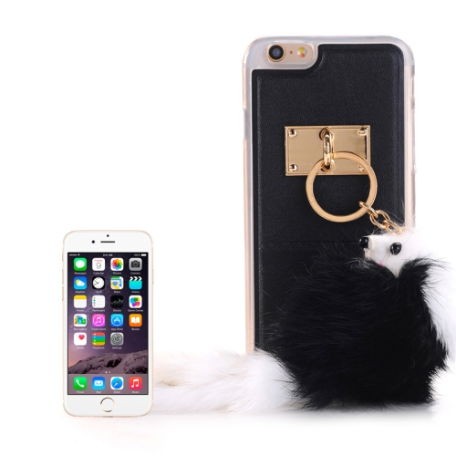 Buy PU Paste Skin TPU Protective Case with Fox Pendant for iPhone 6 Plus & 6s Plus, Black for $2.15 in SUNSKY store