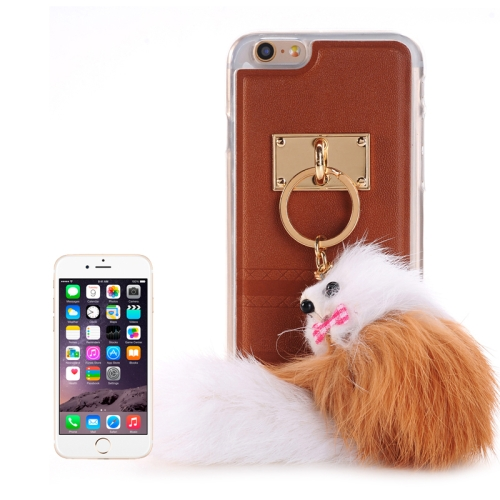 Buy PU Paste Skin TPU Protective Case with Fox Pendant for iPhone 6 Plus & 6s Plus, Brown for $2.15 in SUNSKY store