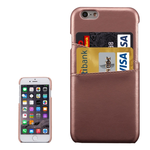 Buy For iPhone 6s Plus Lambskin Texture Leather Back Cover with Card Slots, Coffee for $3.92 in SUNSKY store