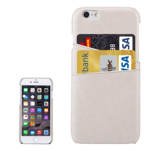 Buy For iPhone 6s Plus Lambskin Texture Leather Back Cover with Card Slots, White for $3.92 in SUNSKY store