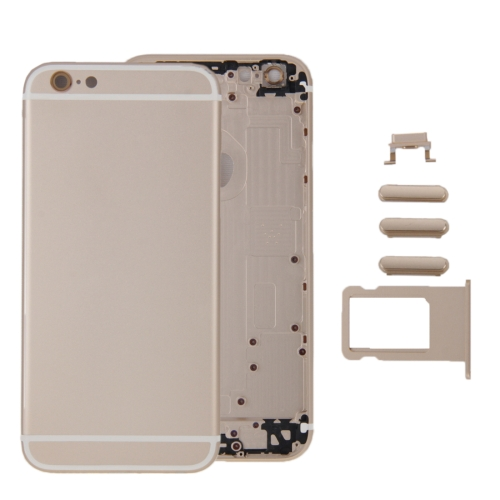 6 in 1 for iPhone 6 Plus (Back Cover + Card Tray + Volume Control Key + Power Button + Mute Switch Vibrator Key + Sign) Full Assembly Housing Cover(Gold)