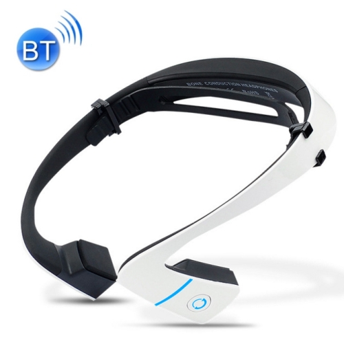 Buy LF-18 Ear Hook Bone Conduction Bluetooth 4.1 Sports Headphone Headset with Mic, Support Calling Function, White for $37.79 in SUNSKY store