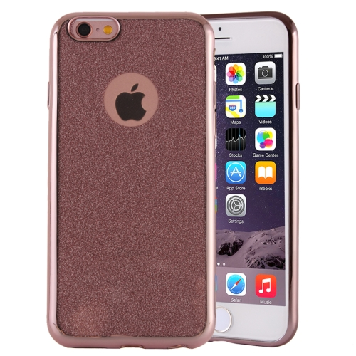 Buy Electroplating Flash Powder TPU Protective Case for iPhone 6 Plus & 6s Plus, Pink for $1.48 in SUNSKY store