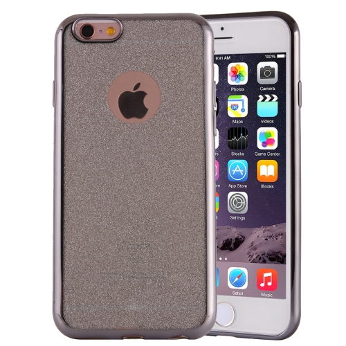 Electroplating Flash Powder TPU Protective Case for iPhone 6 Plus & 6s Plus, Grey