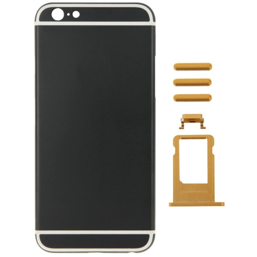 Buy Metal Full Assembly Replacement Housing Cover for iPhone 6 Plus, Including Back Cover & Card Tray & Volume Control Key & Power Button & Mute Switch Vibrator Key, Black for $21.34 in SUNSKY store