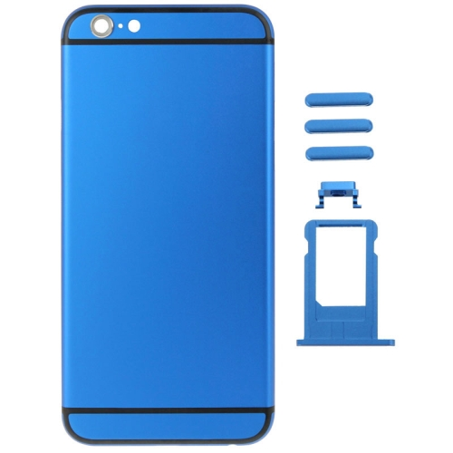 Buy Metal Full Assembly Replacement Housing Cover for iPhone 6 Plus, Including Back Cover & Card Tray & Volume Control Key & Power Button & Mute Switch Vibrator Key (Dark Blue) for $21.34 in SUNSKY store
