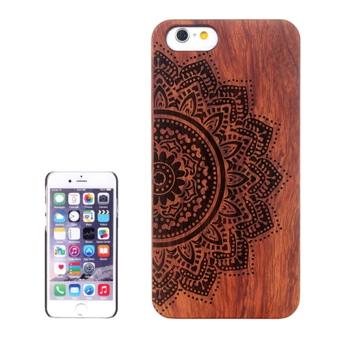Buy Ethnic Flower Carved Pattern & Rosewood Patch Protective Case for iPhone 6 Plus & 6S Plus for $5.88 in SUNSKY store