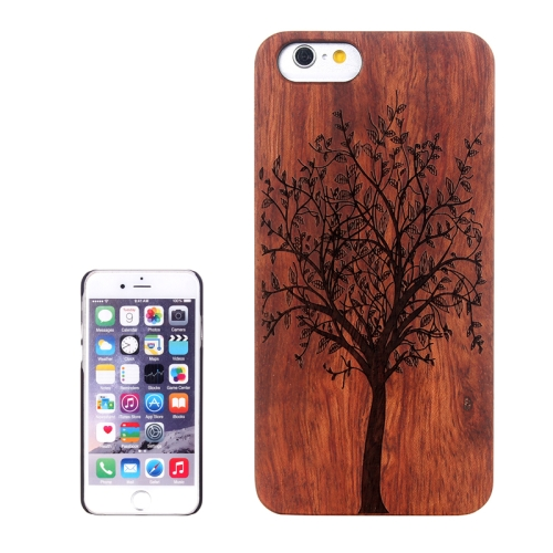 Buy Tree Carved Pattern & Rosewood Patch Protective Case for iPhone 6 Plus & 6S Plus for $5.88 in SUNSKY store