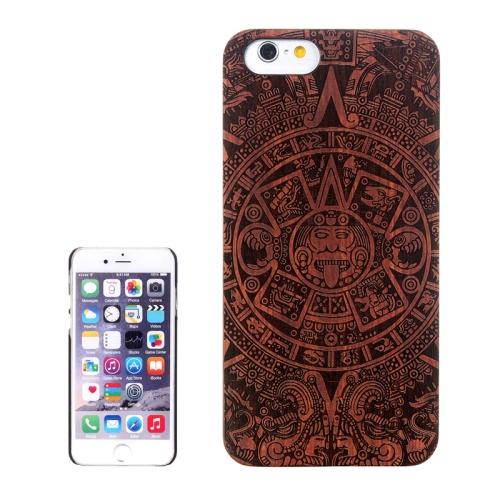 Buy Abstract Carved Pattern & Rosewood Patch Protective Case for iPhone 6 Plus & 6S Plus for $5.60 in SUNSKY store