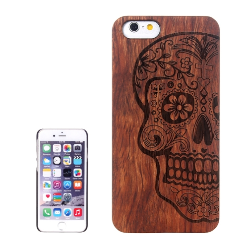 Buy Skull Carved Pattern & Rosewood Patch Protective Case for iPhone 6 Plus & 6S Plus for $5.88 in SUNSKY store