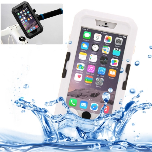 Buy For iPhone 6 Plus & 6s Plus IPX8 Waterproof Touch Sensitive Screen Case with Bike Holder & Lanyard, White for $8.84 in SUNSKY store